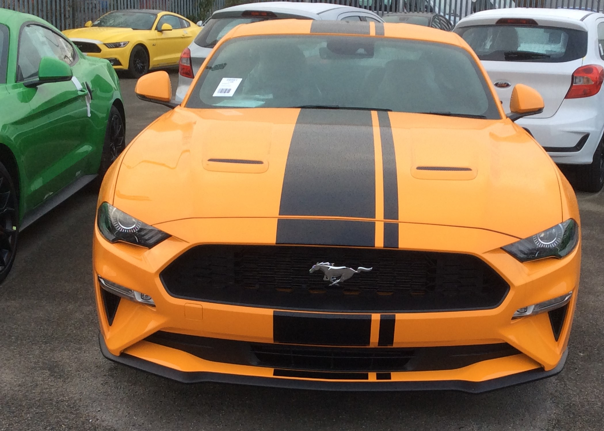 RHD-UK-MY2019 Ford-Mustang-Fastback-2.3 Orange-Fury Custom-Pack-2 Prestige-Vehicle-Search-Ltd