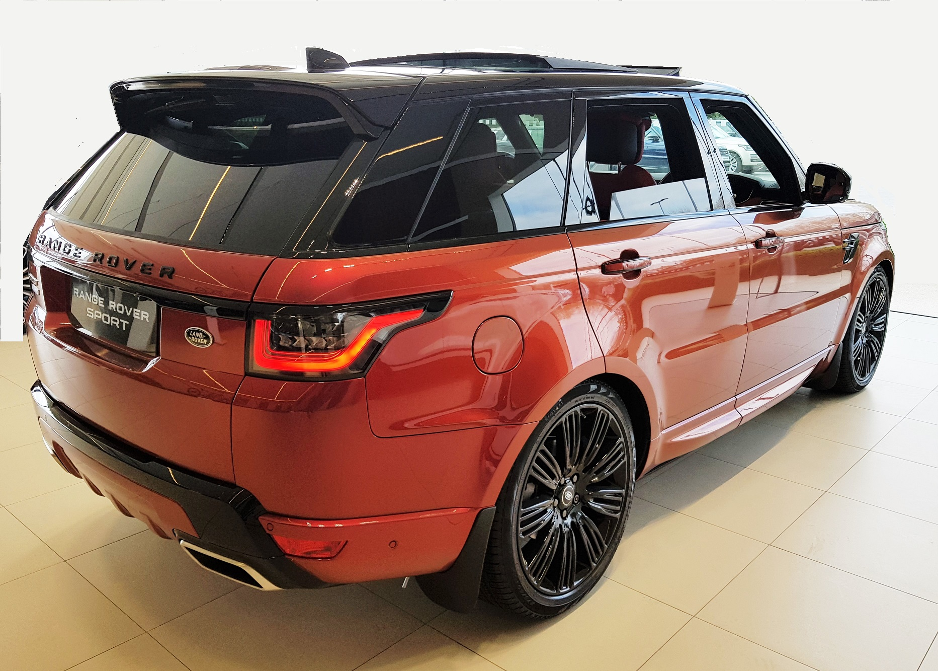 RHD-UK-MY2019 Range-Rover-Sport-Autobiography-SDV6-SVO-Racing-Rede-Pimento-Ebony Prestige Vehicle-Search Ltd